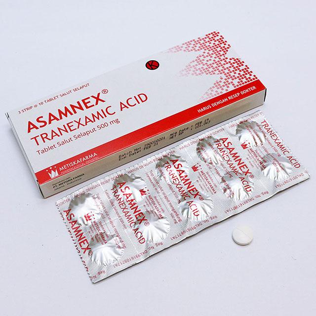 ASAMNEX® Tranexamic acid, Tablet Salut Selaput 500 mg, Metiska Farma