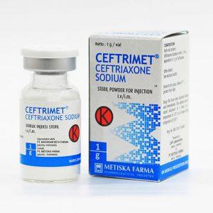 CEFTRIMET, Ceftriaxone Sodium, Metiska Farma