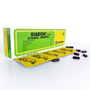 DIABION kapsul vitamin dan mineral, Metiska Farma